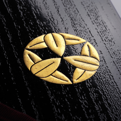 本金箔を使用した家紋