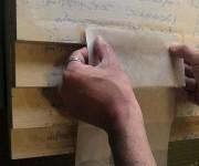 紙蝶番の和紙
