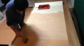 柿渋の乾燥までの工程