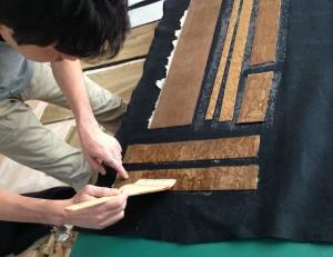 板布海苔の塗布